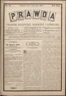 Prawda : tygodnik polityczny, społeczny i literacki, 1899, R. 19, nr 28