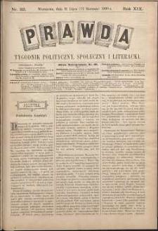 Prawda : tygodnik polityczny, społeczny i literacki, 1899, R. 19, nr 32