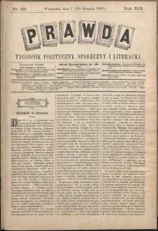 Prawda : tygodnik polityczny, społeczny i literacki, 1899, R. 19, nr 33