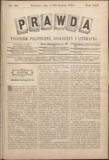Prawda : tygodnik polityczny, społeczny i literacki, 1899, R. 19, nr 34