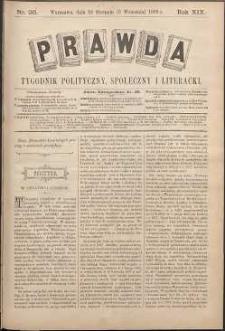 Prawda : tygodnik polityczny, społeczny i literacki, 1899, R. 19, nr 36