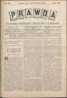 Prawda : tygodnik polityczny, społeczny i literacki, 1899, R. 19, nr 39