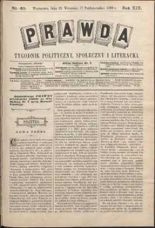 Prawda : tygodnik polityczny, społeczny i literacki, 1899, R. 19, nr 40