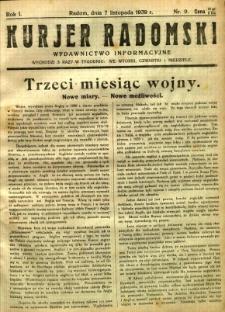 Kurier Radomski, 1939, R. 1, nr 9