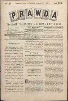 Prawda : tygodnik polityczny, społeczny i literacki, 1899, R. 19, nr 48
