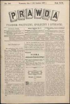 Prawda : tygodnik polityczny, społeczny i literacki, 1899, R. 19, nr 50