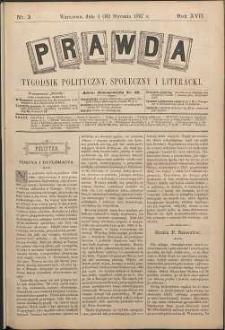 Prawda : tygodnik polityczny, społeczny i literacki, 1897, R. 17, nr 3
