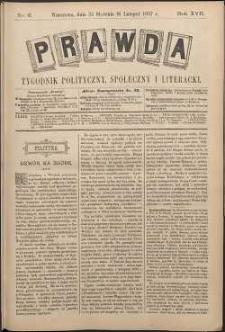 Prawda : tygodnik polityczny, społeczny i literacki, 1897, R. 17, nr 6