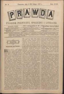 Prawda : tygodnik polityczny, społeczny i literacki, 1897, R. 17, nr 8