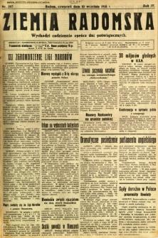 Ziemia Radomska, 1931, R. 4, nr 207