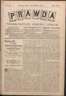 Prawda : tygodnik polityczny, społeczny i literacki, 1897, R. 17, nr 16