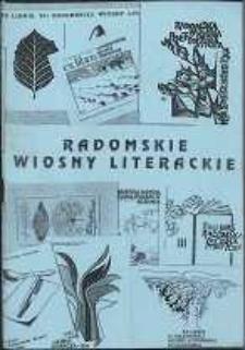 Radomskie Wiosny Literackie 1974-1988 1993-1996