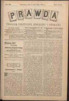 Prawda : tygodnik polityczny, społeczny i literacki, 1897, R. 17, nr 22