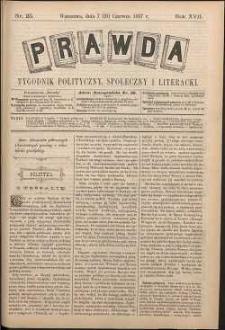 Prawda : tygodnik polityczny, społeczny i literacki, 1897, R. 17, nr 25