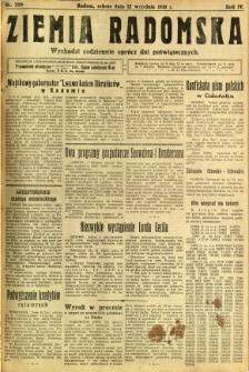 Ziemia Radomska, 1931, R. 4, nr 209