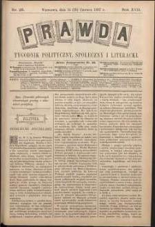 Prawda : tygodnik polityczny, społeczny i literacki, 1897, R. 17, nr 26