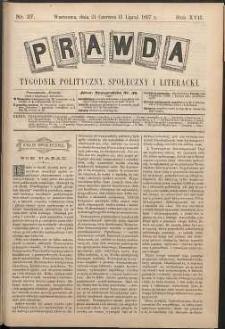 Prawda : tygodnik polityczny, społeczny i literacki, 1897, R. 17, nr 27