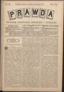 Prawda : tygodnik polityczny, społeczny i literacki, 1897, R. 17, nr 28