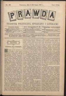 Prawda : tygodnik polityczny, społeczny i literacki, 1897, R. 17, nr 29