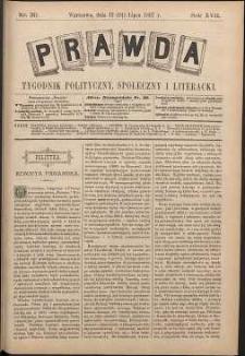 Prawda : tygodnik polityczny, społeczny i literacki, 1897, R. 17, nr 30