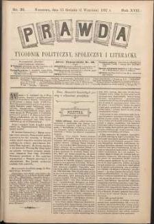 Prawda : tygodnik polityczny, społeczny i literacki, 1897, R. 17, nr 36