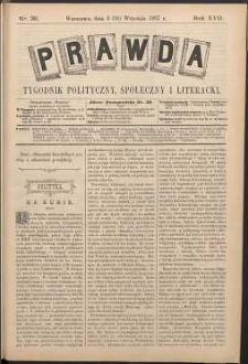 Prawda : tygodnik polityczny, społeczny i literacki, 1897, R. 17, nr 38