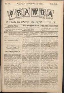 Prawda : tygodnik polityczny, społeczny i literacki, 1897, R. 17, nr 39
