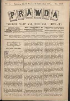 Prawda : tygodnik polityczny, społeczny i literacki, 1897, R. 17, nr 41