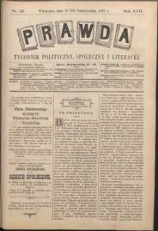 Prawda : tygodnik polityczny, społeczny i literacki, 1897, R. 17, nr 43