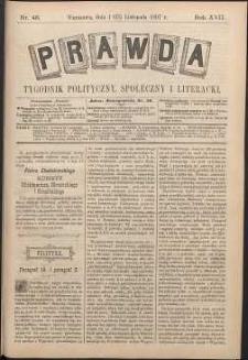 Prawda : tygodnik polityczny, społeczny i literacki, 1897, R. 17, nr 46