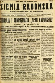 Ziemia Radomska, 1931, R. 4, nr 214