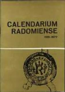 Calendarium Radomiense 1155-1977