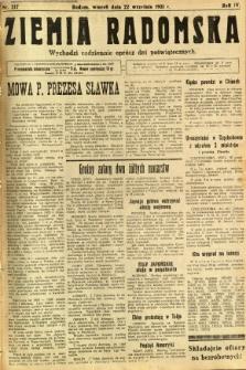 Ziemia Radomska, 1931, R. 4, nr 217