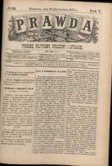 Prawda : tygodnik polityczny, społeczny i literacki, 1885, R. 5, nr 52