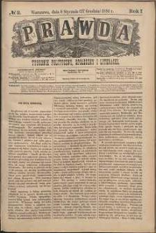 Prawda : tygodnik polityczny, społeczny i literacki, 1881, R. 1, nr 2
