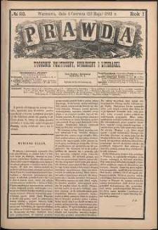 Prawda : tygodnik polityczny, społeczny i literacki, 1881, R. 1, nr 23