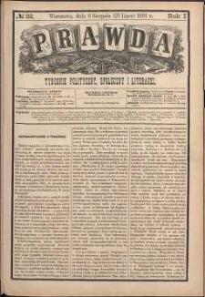 Prawda : tygodnik polityczny, społeczny i literacki, 1881, R. 1, nr 32