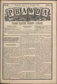 Prawda : tygodnik polityczny, społeczny i literacki, 1881, R. 1, nr 38