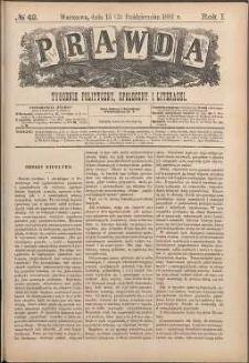 Prawda : tygodnik polityczny, społeczny i literacki, 1881, R. 1, nr 42