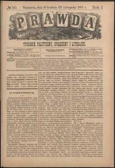 Prawda : tygodnik polityczny, społeczny i literacki, 1881, R. 1, nr 50