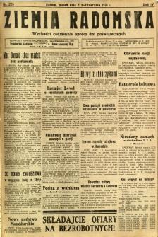 Ziemia Radomska, 1931, R. 4, nr 226