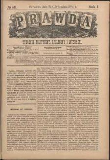 Prawda : tygodnik polityczny, społeczny i literacki, 1881, R. 1, nr 52