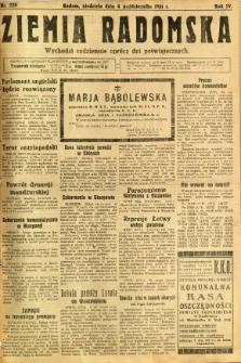 Ziemia Radomska, 1931, R. 4, nr 228