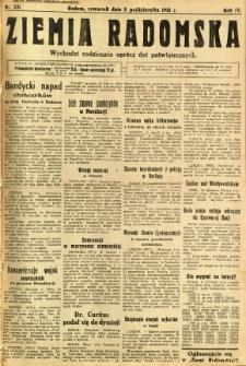 Ziemia Radomska, 1931, R. 4, nr 231