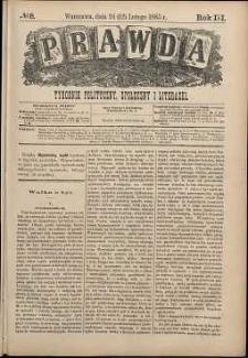 Prawda : tygodnik polityczny, społeczny i literacki, 1883, R. 3, nr 8