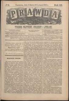 Prawda : tygodnik polityczny, społeczny i literacki, 1883, R. 3, nr 9