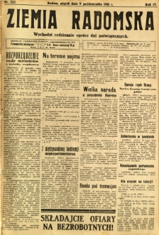 Ziemia Radomska, 1931, R. 4, nr 232