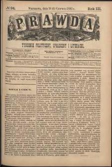 Prawda : tygodnik polityczny, społeczny i literacki, 1883, R. 3, nr 24