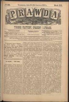 Prawda : tygodnik polityczny, społeczny i literacki, 1883, R. 3, nr 26
