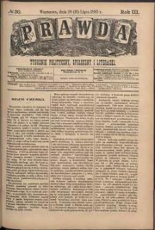 Prawda : tygodnik polityczny, społeczny i literacki, 1883, R. 3, nr 30